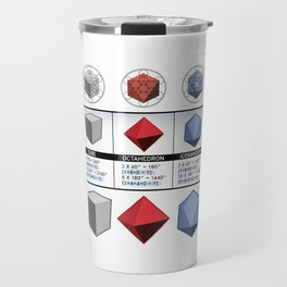 Platonic Solids  Travel Mug