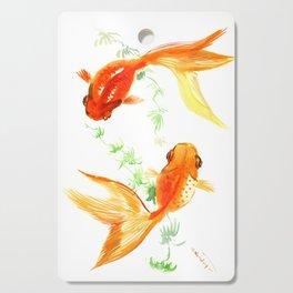 Goldfish, Feng Shui Asian Watercolor Cutting Board