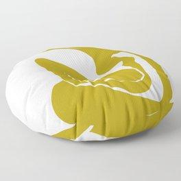 Matisse Cut Out Figure #1 Mustard Yellow Floor Pillow
