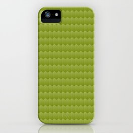 Olive Green Smooth Ripples iPhone Case