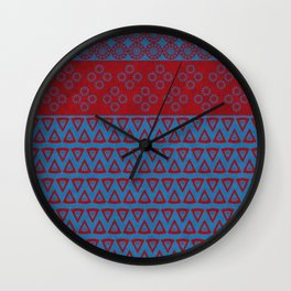 Japanese Style Bohemian Pattern Wall Clock
