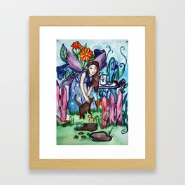 Blue Fairy´s Garden Framed Art Print