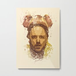 Breaking Bad, Jesse Pinkman splatter painting Metal Print
