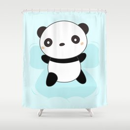 Kawaii Panda Snow Angel Shower Curtain