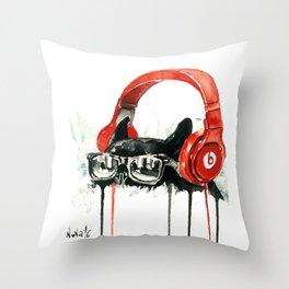 Beats by Dre Throw Pillow