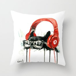 Beats by Dre Throw Pillow