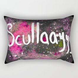 Scullayyy Pink Space Nebula Rectangular Pillow