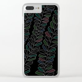 white ink 01 - colour ver. Clear iPhone Case