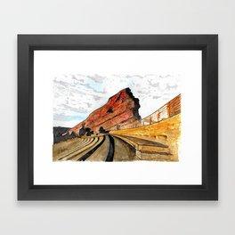 Red Rocks 2016 Framed Art Print