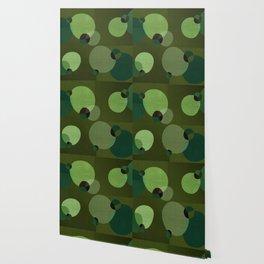 """""""Retro Green Super Dots"""" Wallpaper"""