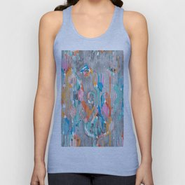 rainy day balinese ikat Unisex Tank Top