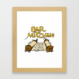 Bar Mitzvah with scroll Framed Art Print