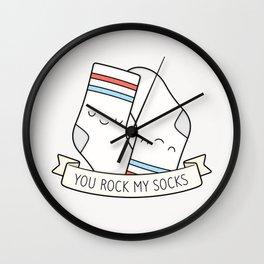 You Rock My Socks Wall Clock
