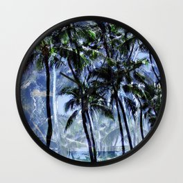 Waikiki Memories Wall Clock