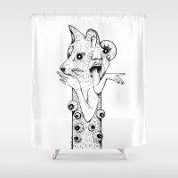 werewolf Shower Curtains featuring Werewolf by Benson Koo