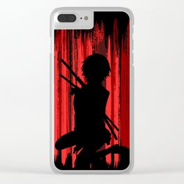 Red Lady Clear iPhone Case