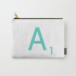 Blue Scrabble Letter A Carry-All Pouch