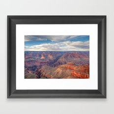 Grand Canyon Evening Display Framed Art Print