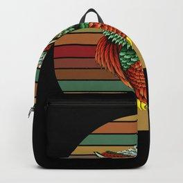 Retro Owl Gift Idea Motif Design Backpack