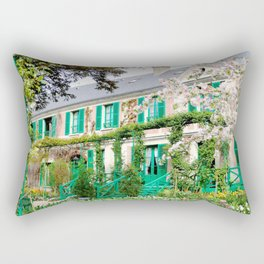 Claude Monet's Garden and Home Rectangular Pillow