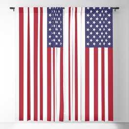 US Flag - Authentic colors Blackout Curtain