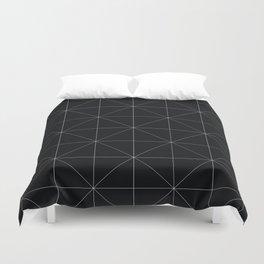 Geometric black and white Duvet Cover