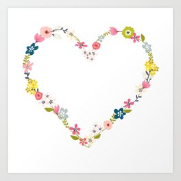 FLOWERPOWER LOVE! Art Print