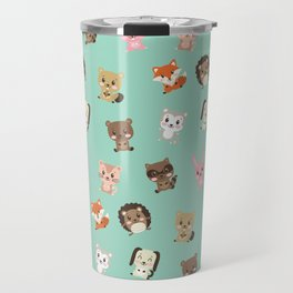 Cute Critters Funny Happy Forest Animal Friends Travel Mug