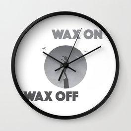 Karate Kid Wax On Wax Off Wall Clock