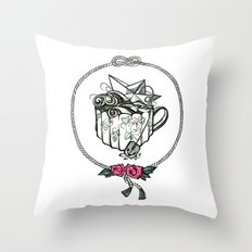Storm in a teacup Throw Pillow
