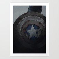 steve rogers Art Prints featuring Captain Steve Rogers by yurishwedoff