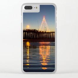 Christmas by the Sea Clear iPhone Case