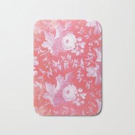 Patterned Silk Rose Bath Mat