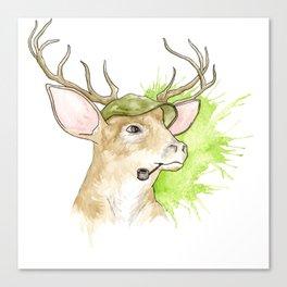 Stag Illustration Canvas Print