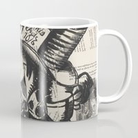 mad hatter Mugs featuring Mad Hatter by Jordan Renae Arp
