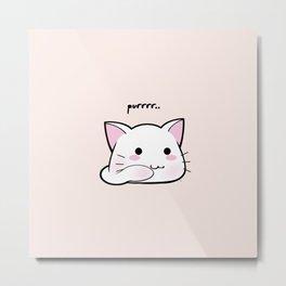 Purrring Kawaii Kitten MEOW! =(^_^)= Metal Print