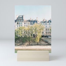 River Seine in Paris, France | lle Saint-Louis, Paris | Parisian Buildings | Travel Photography Mini Art Print