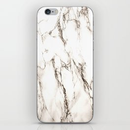 Brown Veined Marble iPhone Skin