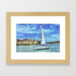 Capbreton boat Framed Art Print