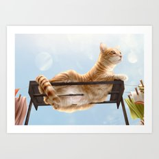 My Neighbour's Cat Art Print