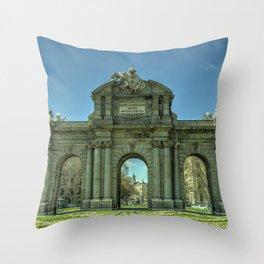 Puerta de Alcala Throw Pillow