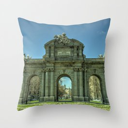 Puerta de Alcala Throw Pillow