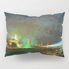 'Illumination Of The Kremlin' Landscape Painting by Aleksei Petrovich Bogolyubov Pillow Sham