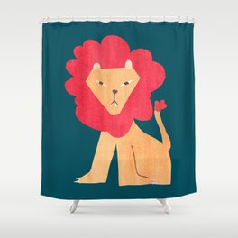 Ferocious lion Shower Curtain