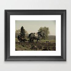 Tilling the Fields Framed Art Print