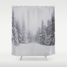 Winter walk - Landscape and Nature Photography Shower Curtain