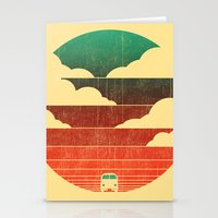 sunrise Stationery Cards featuring Go West by Picomodi