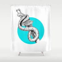 snake Shower Curtains featuring SNAKE by HanYong