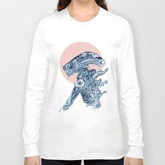 Floral Alien Long Sleeve T-shirt
