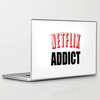 netflix Laptop & iPad Skins featuring Netflix Addict by Poppo Inc.